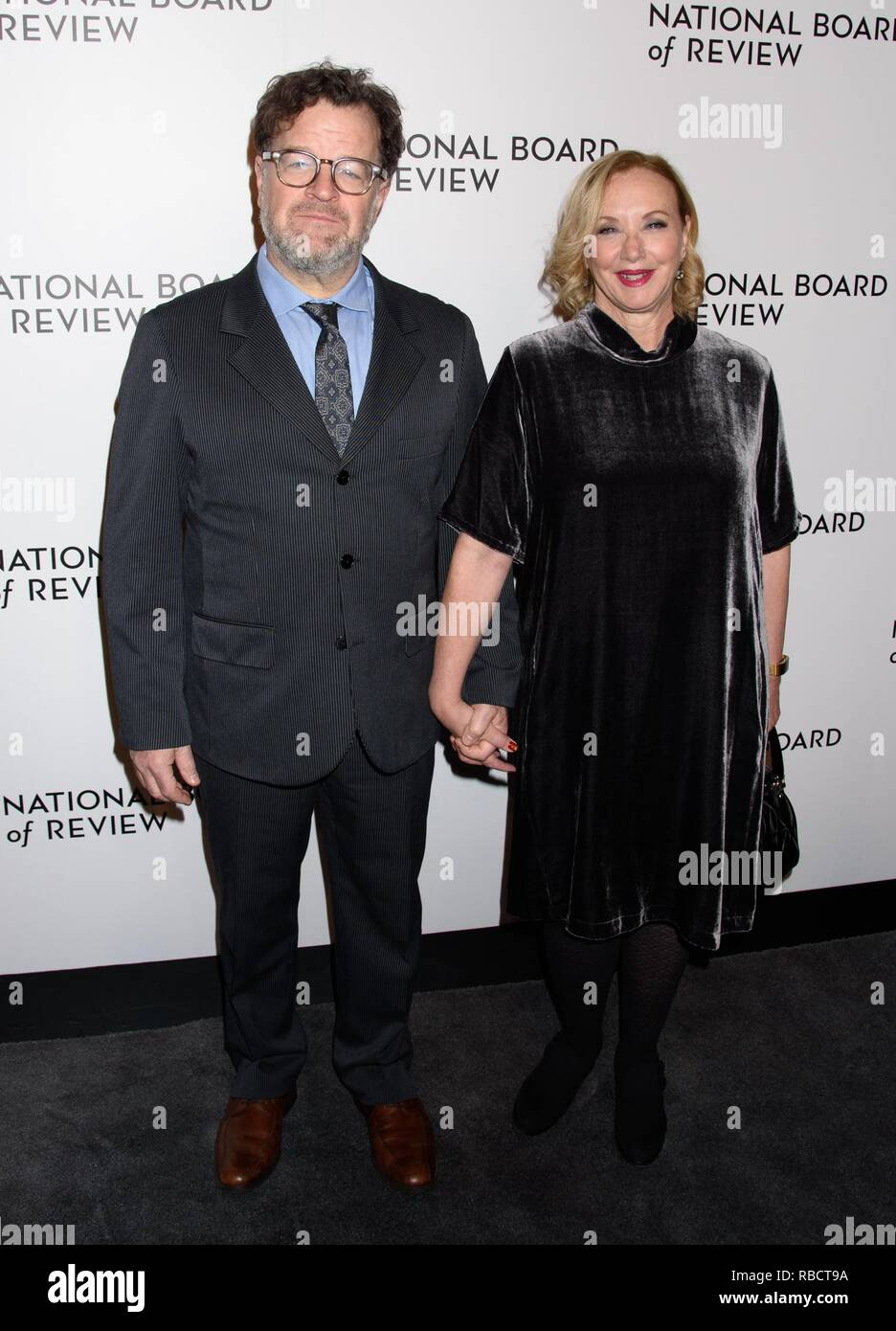 New York, NY, USA. 8th Jan, 2019. Kenneth Lonergan and J. Smith-Cameron at arrivals for National Board of Review (NBR) Awards Gala, Cipriani 42nd Street, New York, NY January 8, 2019. Credit: RCF/Everett Collection/Alamy Live News - Stock Image