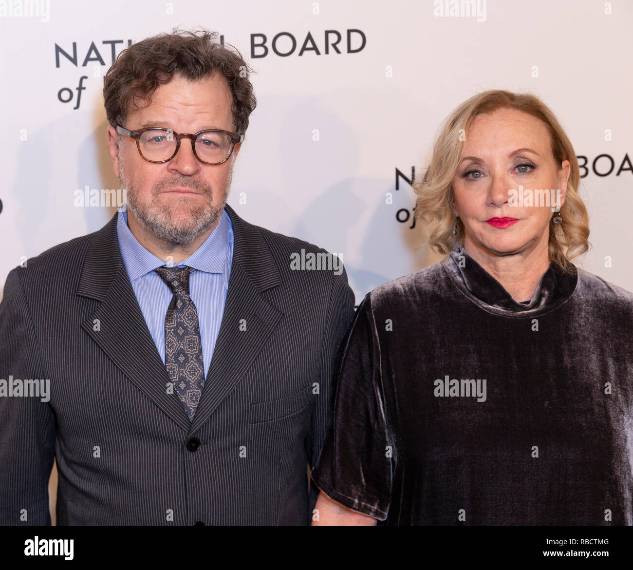 New York, NY - January 8, 2019: Kenneth Lonergan and J. Smith-Cameron attend National Board of Review 2019 Gala at Cipriani 42nd street Credit: lev radin/Alamy Live News - Stock Image