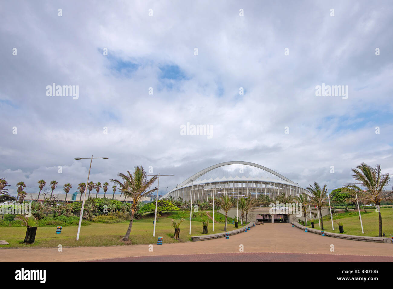 Durban, South Africa. 9th January, 2019. The African National Congress (ANC) 2019 Election Manifesto Launch is set to take place at Moses Mabhida Stadium in Durban on Saturday, 12th January, 2019. The ANC is South Africa's ruling party, but it faces major challenges from opposition parties the Democratic Alliance (DA) and the Economic Freedom Fighters (EFF). Jonathan Oberholster/Alamy Live News - Stock Image