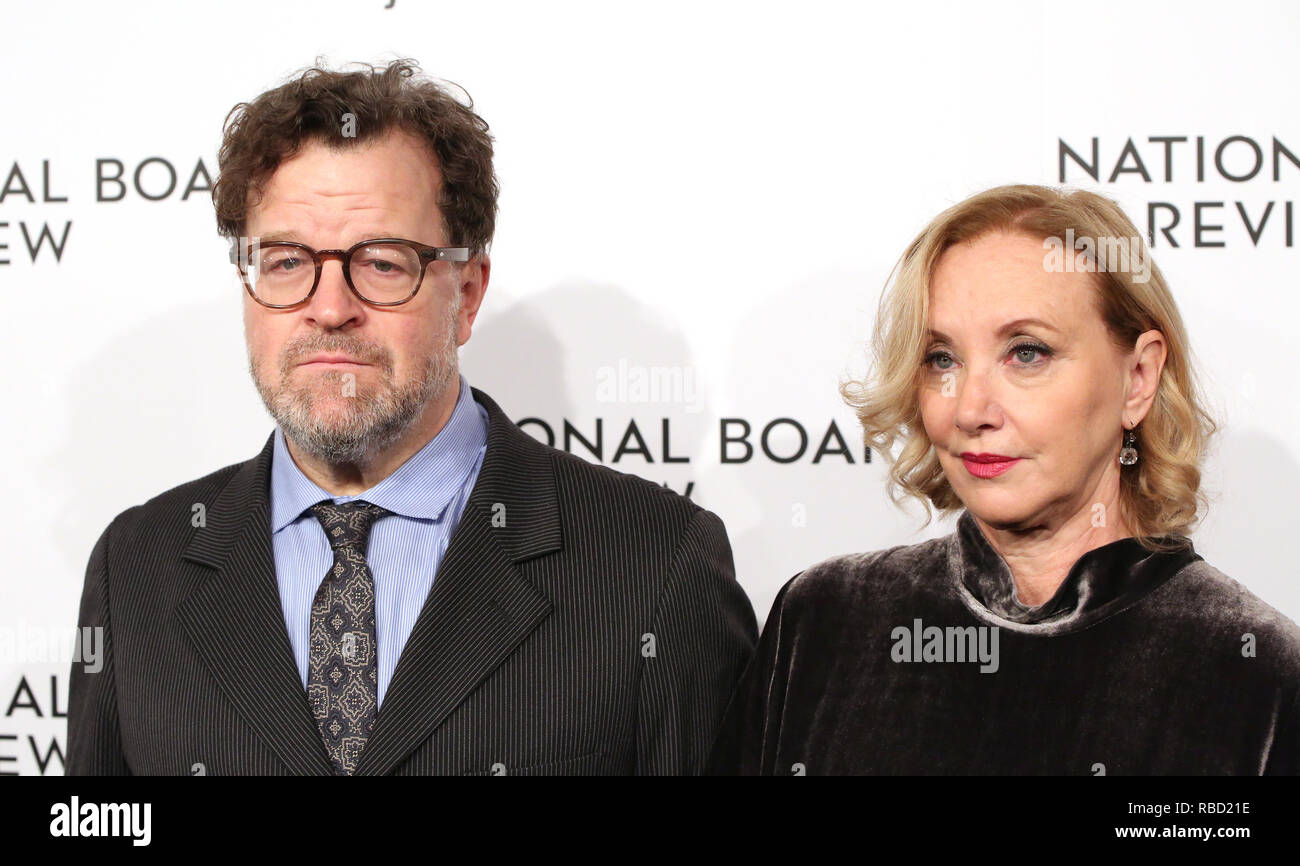 Kenneth Lonergan and J. Smith-Cameron attends the 2019 National Board Of Review Gala at Cipriani 42nd Street on January 08, 2019 in New York City. Credit: Walter McBride/MediaPunch - Stock Image
