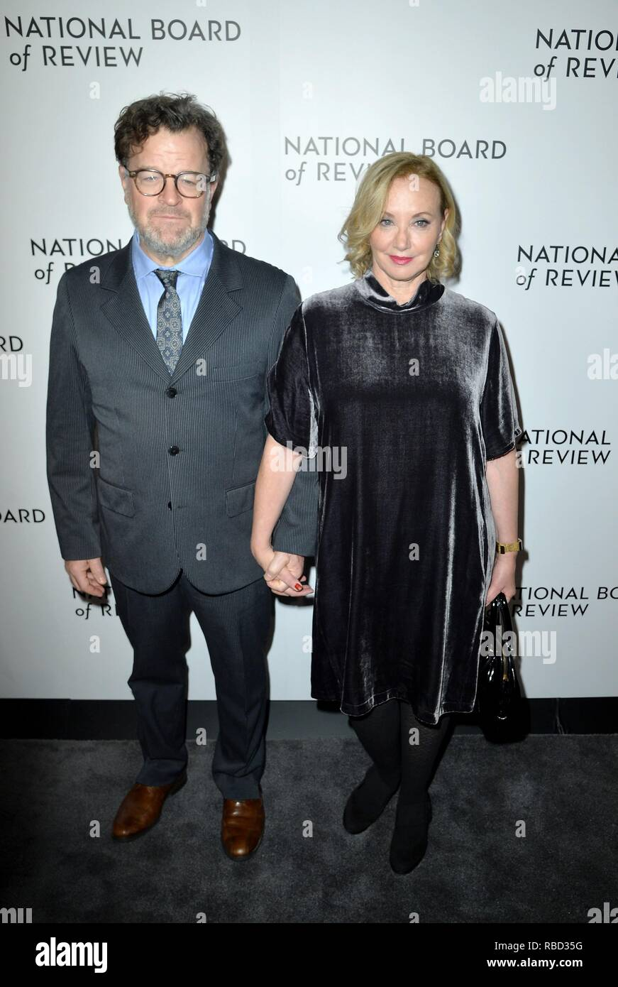 New York, NY, USA. 8th Jan, 2019. Kenneth Lonergan, J Smith Cameron at arrivals for National Board of Review (NBR) Awards Gala, Cipriani 42nd Street, New York, NY January 8, 2019. Credit: Kristin Callahan/Everett Collection/Alamy Live News - Stock Image