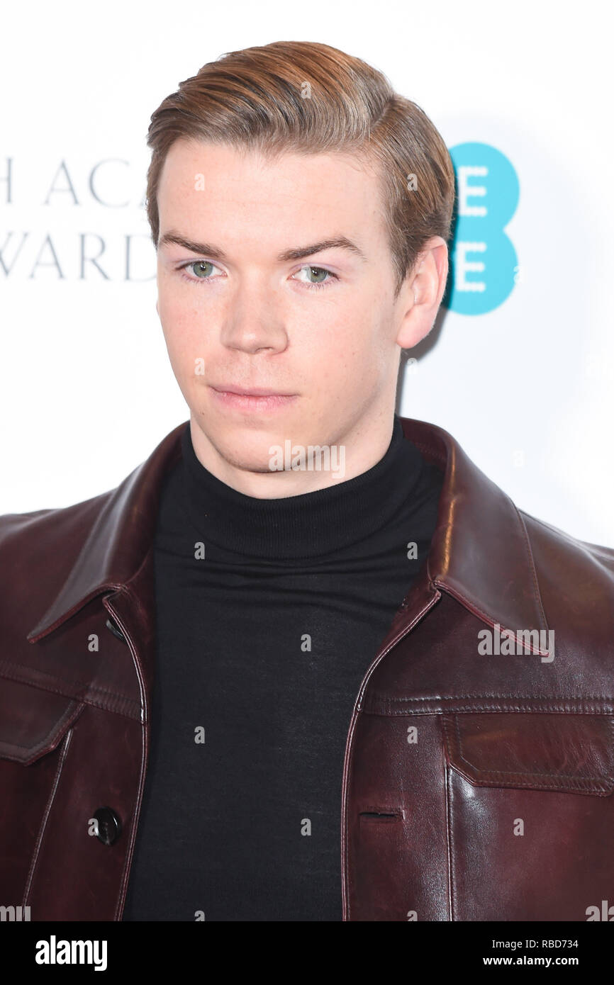 London, UK. 09th Jan, 2019. LONDON, UK. January 09, 2019: Will Poulter at the announcement of the nominations for the BAFTA Film Awards 2019 London. Picture: Steve Vas/Featureflash Credit: Paul Smith/Alamy Live News - Stock Image
