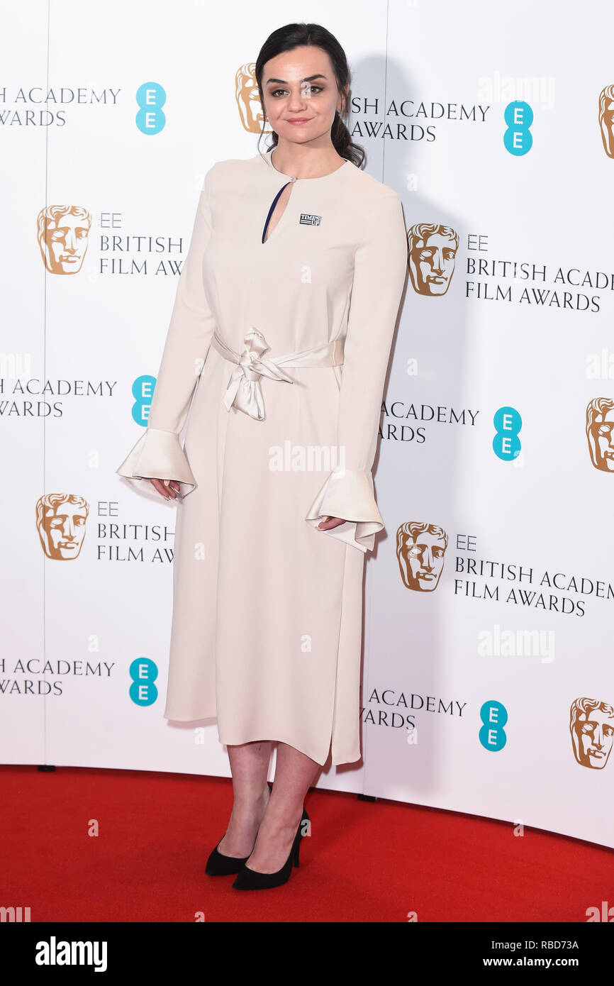 London, UK. 09th Jan, 2019. LONDON, UK. January 09, 2019: Hayley Squires at the announcement of the nominations for the BAFTA Film Awards 2019 London. Picture: Steve Vas/Featureflash Credit: Paul Smith/Alamy Live News - Stock Image