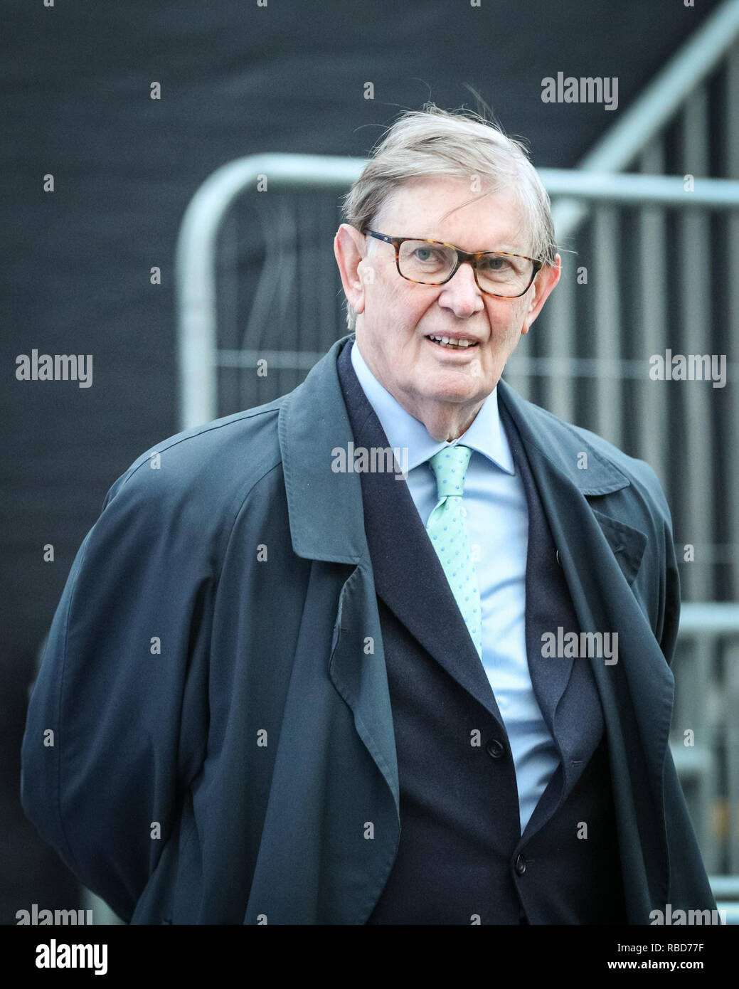 Westminster, London, 09th Jan 2019. Sir William (Bill) Cash, Conservative MP and prominent Eurosceptic. Politicians are interviewed on College Green to give their reactions to this afternoon's amendment vote in Parliament, which was lost by the government. Credit: Imageplotter News and Sports/Alamy Live News - Stock Image