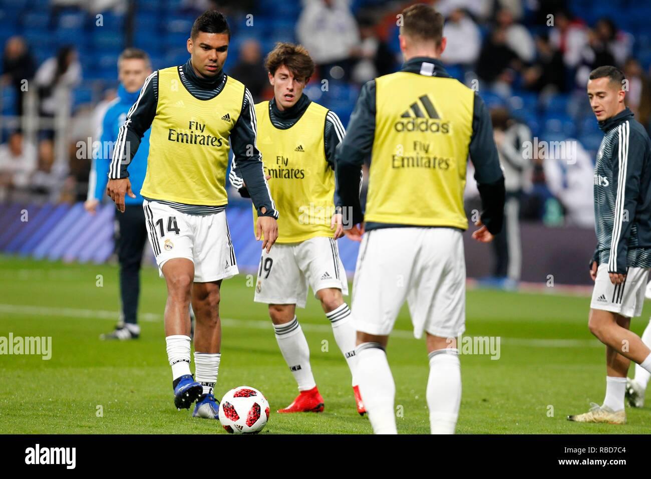 Madrid Spain 9th Jan 2019 Soccer Match Between Real Madrid Vs