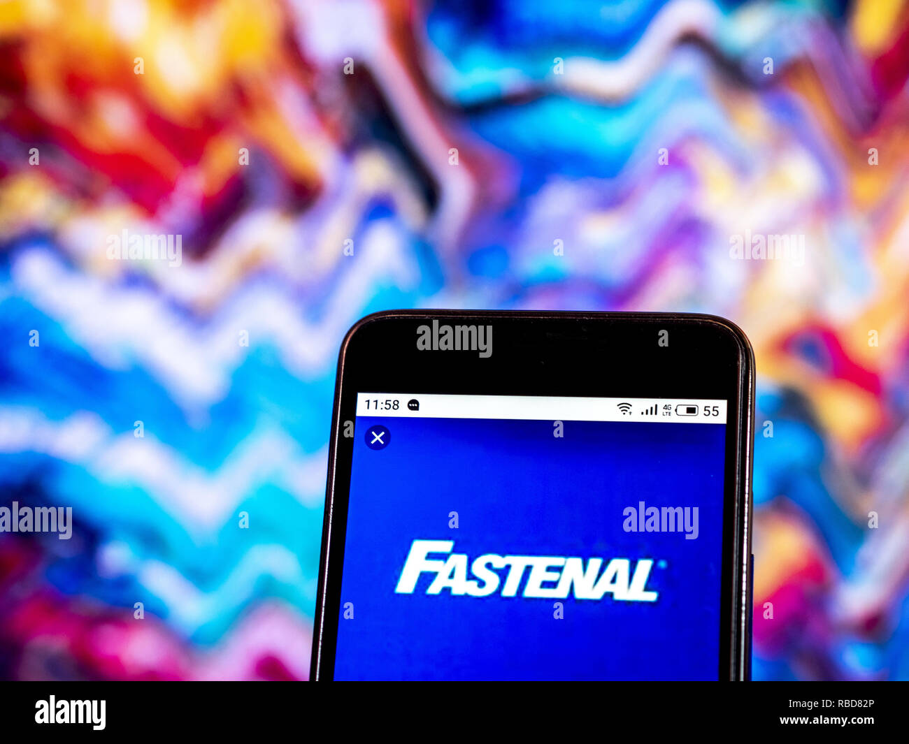 3aed8a44cd66 Fastenal Industrial supplies company logo seen displayed on a smart phone.  Credit: Igor Golovniov/SOPA Images/ZUMA Wire/Alamy Live News
