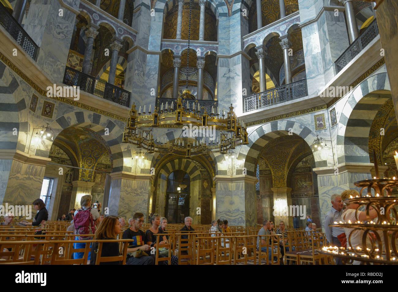 Karl's chapel central construction, cathedral, Aachen, North Rhine-Westphalia, Germany, Karlskapelle Zentralbau, Dom, Nordrhein-Westfalen, Deutschland Stock Photo