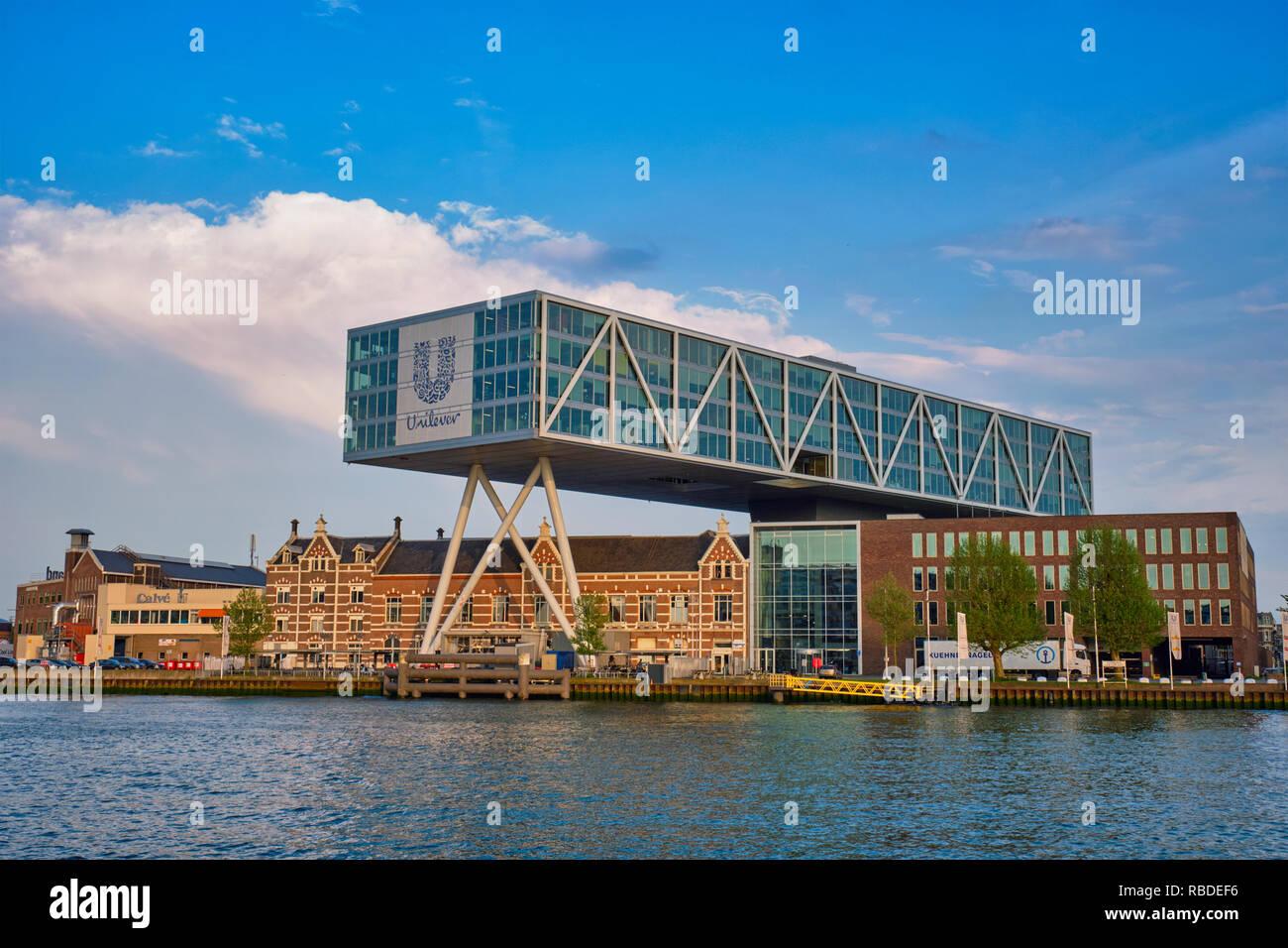 Unilever building, Rotterdam Stock Photo