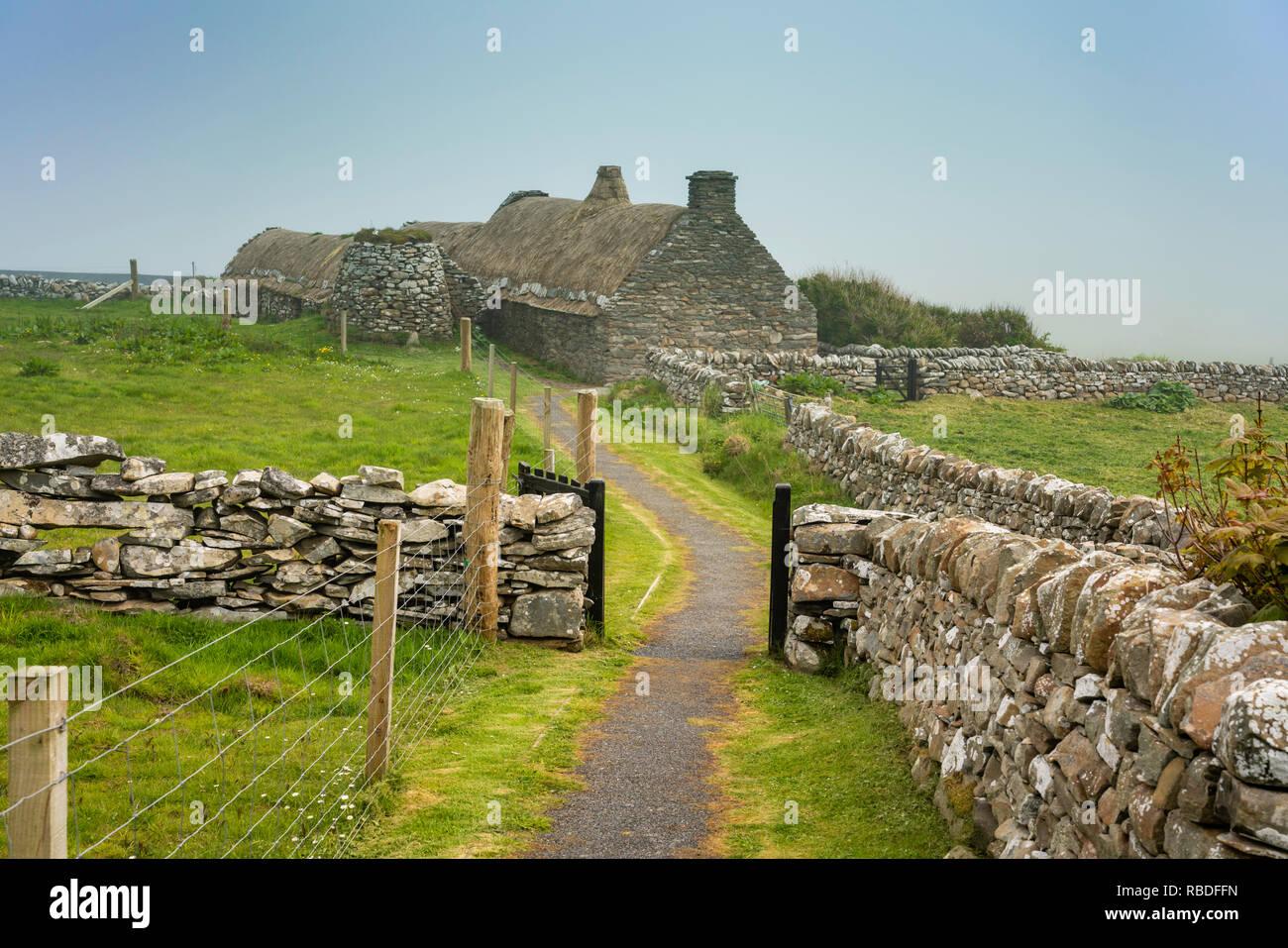 The Croft House Museum in Boddam, Dunrossness, Shetland, Scotland,  United Kingdom, Europe. - Stock Image