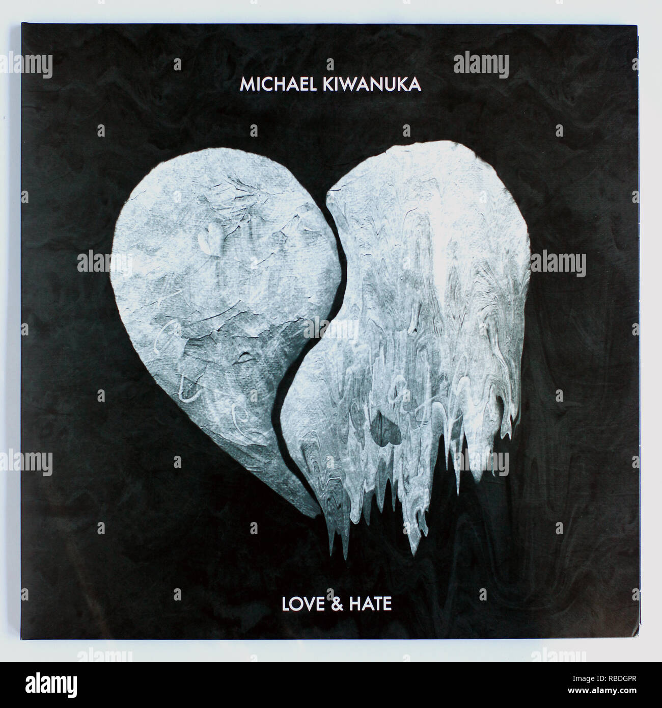 The cover of Love and Hate by Michael Kiwanuka 2016 album on Polydor Records - Stock Image