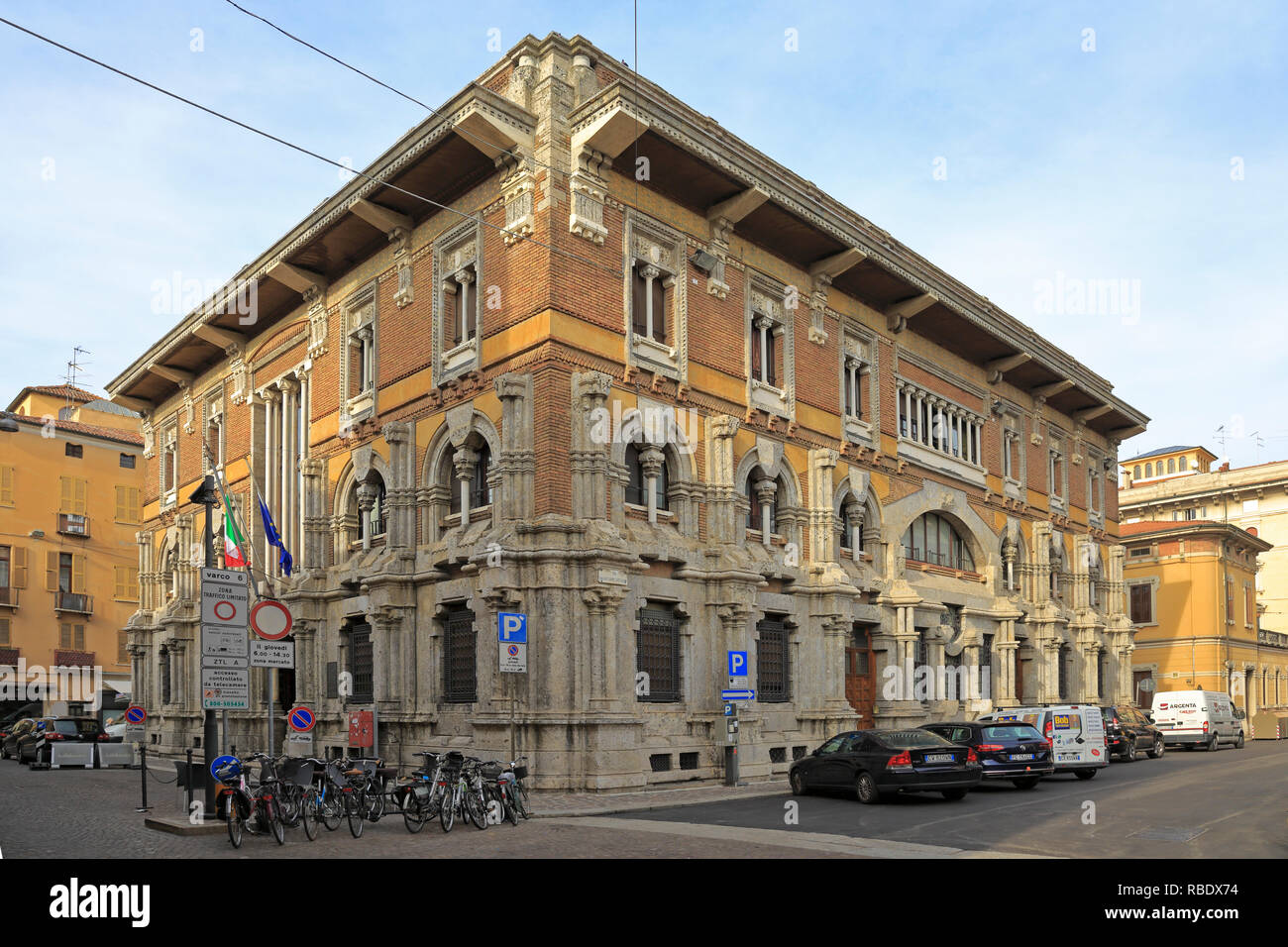 Chamber of Commerce building, Mantua, UNESCO World Heritage Site, Lombardy, Italy. - Stock Image