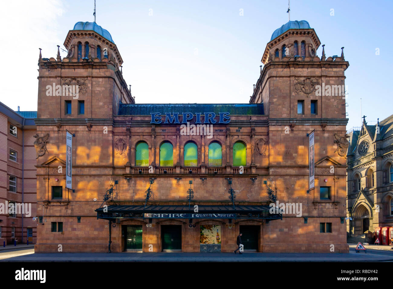 EmpirePalace of Varieties in Middlesbrough built in 1897 as a music hall designed by Ernest Runtz, is still in regular use for stage performances - Stock Image