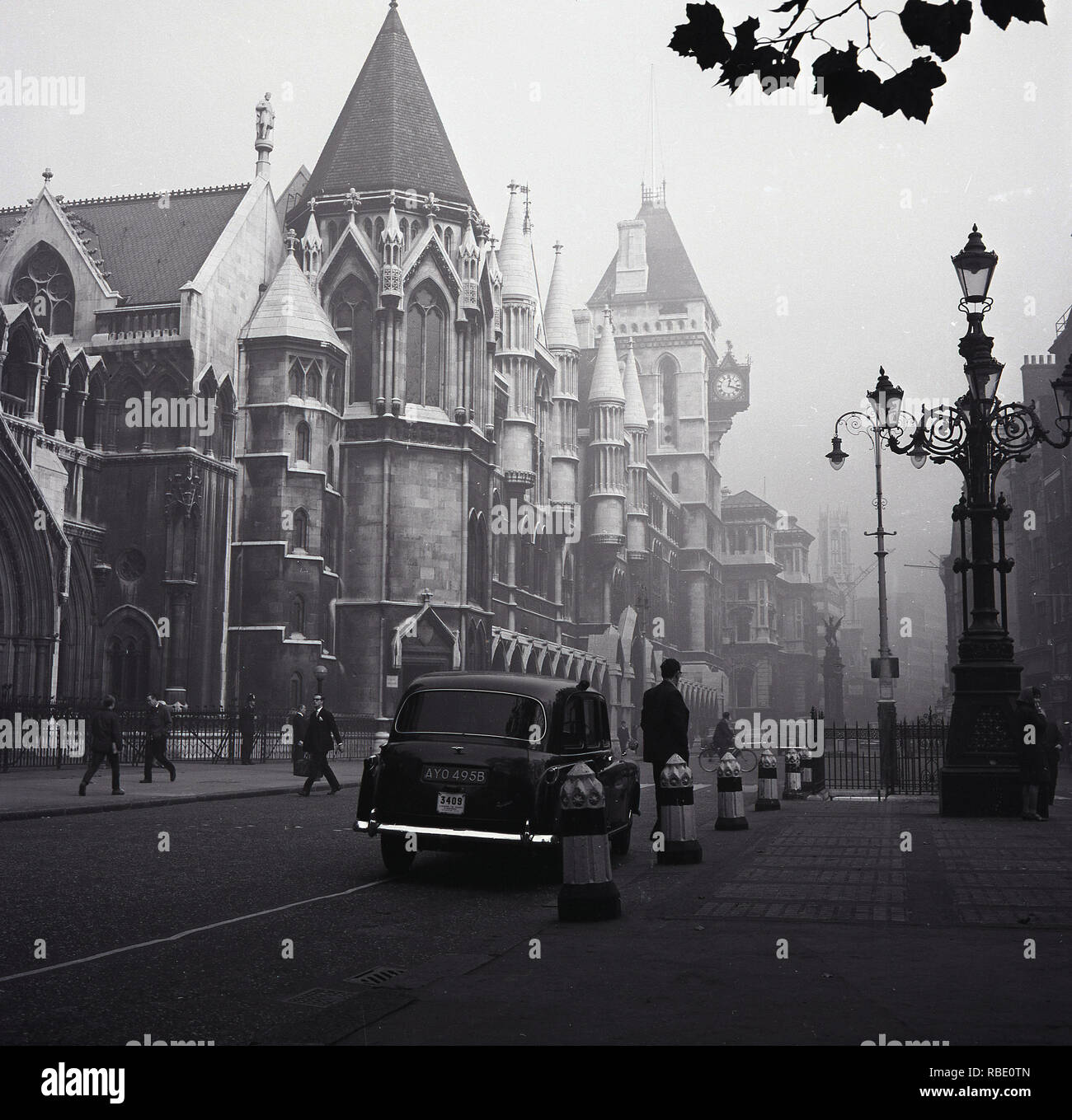 1965, inns of court, London Taxi, London, England, UK - Stock Image
