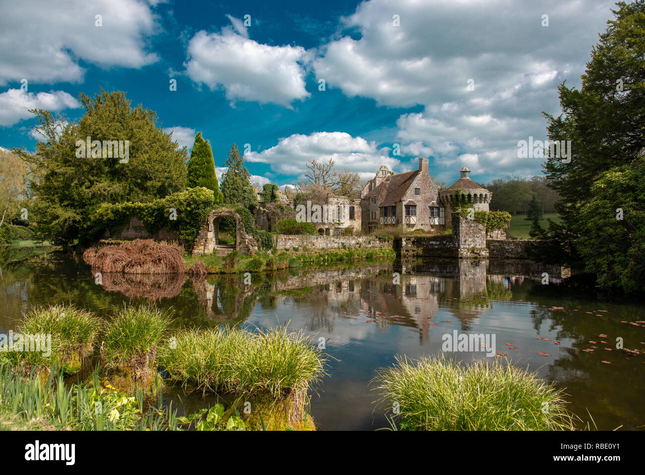 Scotney Old Castle - Stock Image