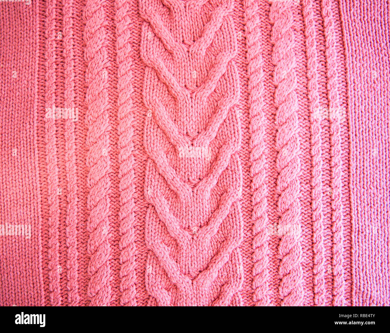f542ae5b09e Pink fuchsia magenta Blush Knitted pattern wool sweater texture close up.  Handmade red knitting wool texture background