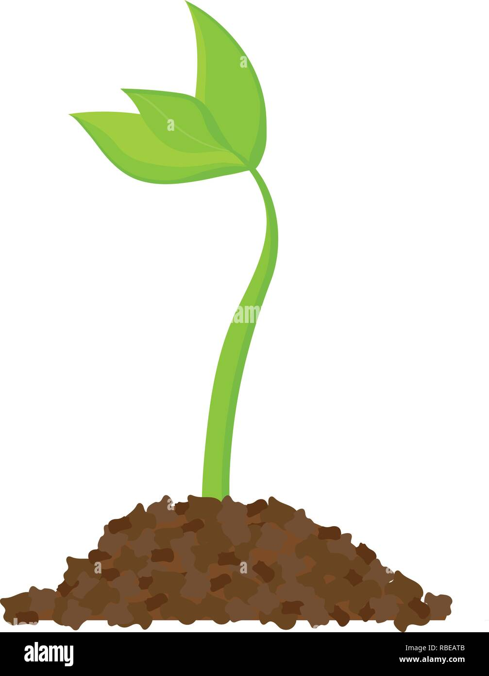 Simple sprouting seed drawing. Sprout, plant, tree growing agriculture icons. Vector illustration - Stock Vector