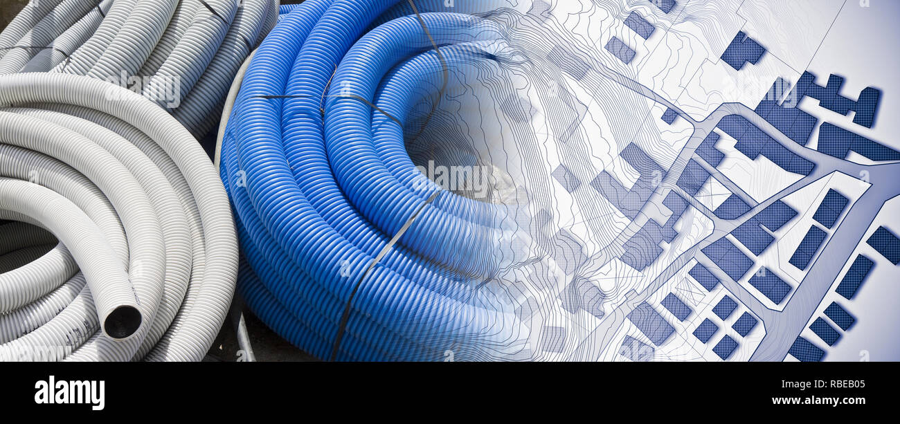 Plastic Flexible Tubing Stock Photos Electric Wiring Conduit Pipe Buy Pvc Pipesoft Tubeelectric Construction Of New Electrical Systems In A City Concept Image With Corrugated And