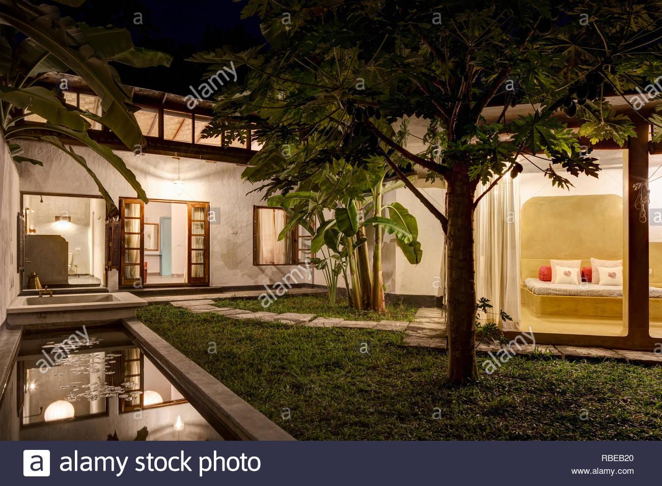 Bedrooms with garden courtyard  Jalakara Villa Hotel, Andaman and