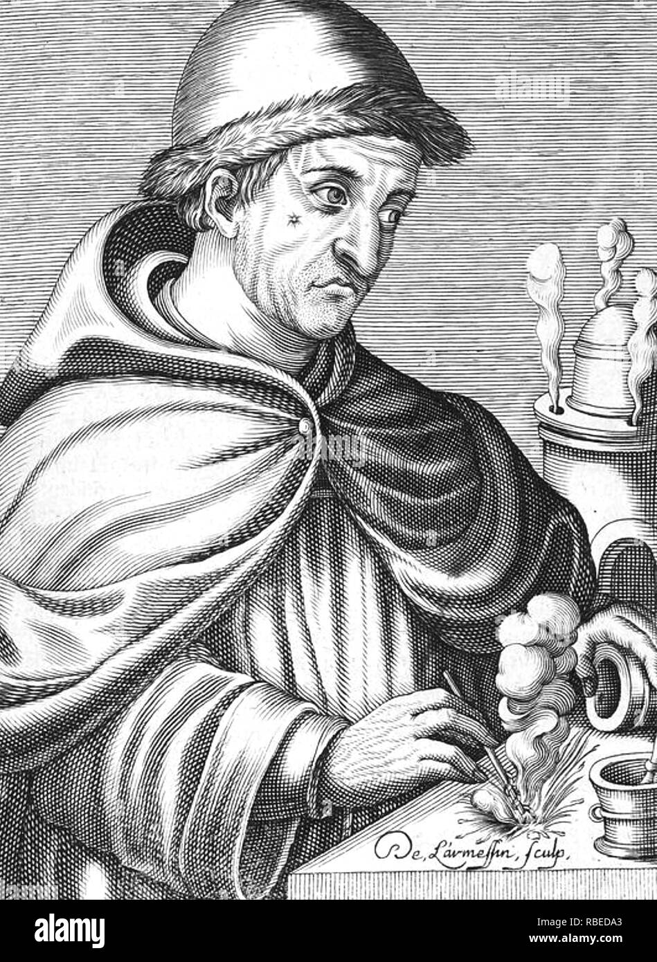 BERTHOLD SCHWARZ Legendary German/Danish/Greek alchemist of the late 14th century, credited with the invention of gunpowder by 15th century sources. - Stock Image