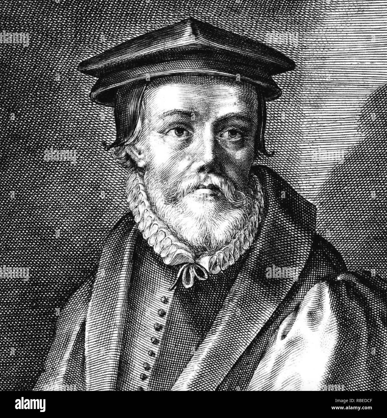JOHN BRADFORD (1510-1555) Church of England Reformer executed for alleged crimes against Mary Tudor - Stock Image