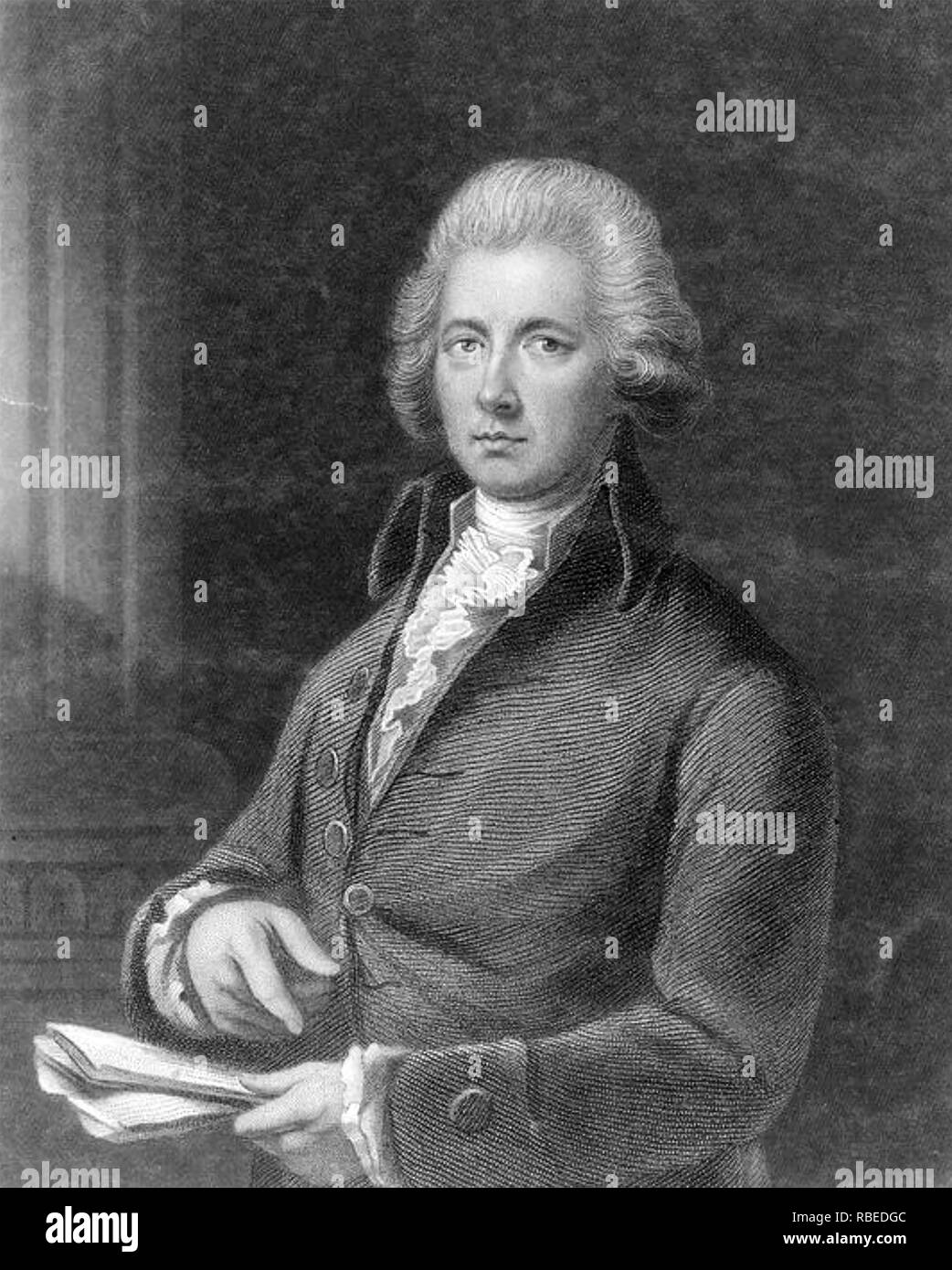WILLIAM PITT THE YOUNGER (1759-1806) British Tory Prime Minister Stock Photo