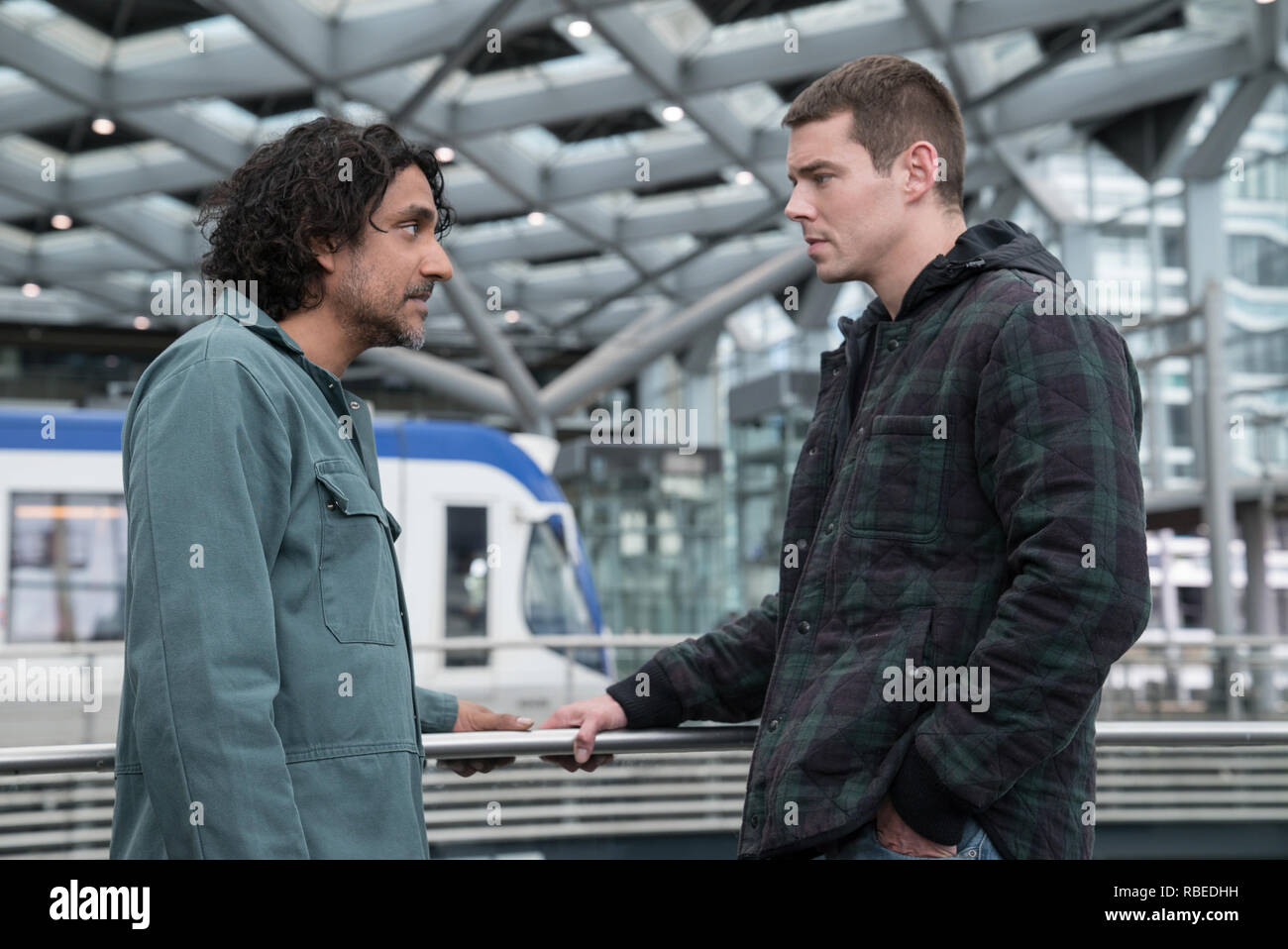 Naveen Andrews, Brian J Smith, 'Sense8' Season 2 (2018)  Credit: Netflix / The Hollywood Archive - Stock Image