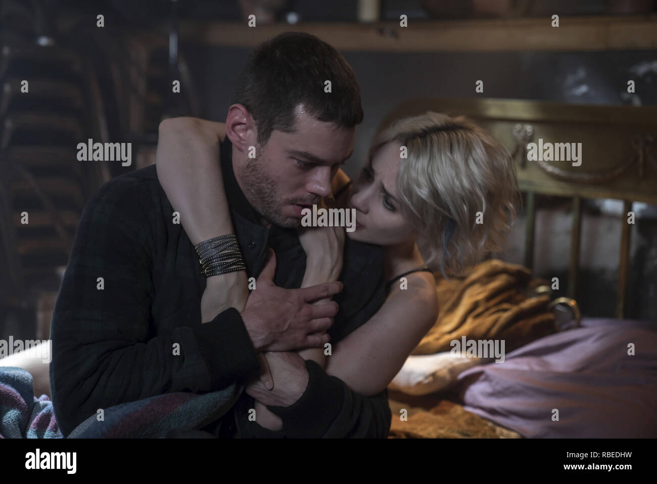 Brian J Smith, Tuppence Middleton, 'Sense8' Season 2 (2018)  Credit: Netflix / The Hollywood Archive - Stock Image