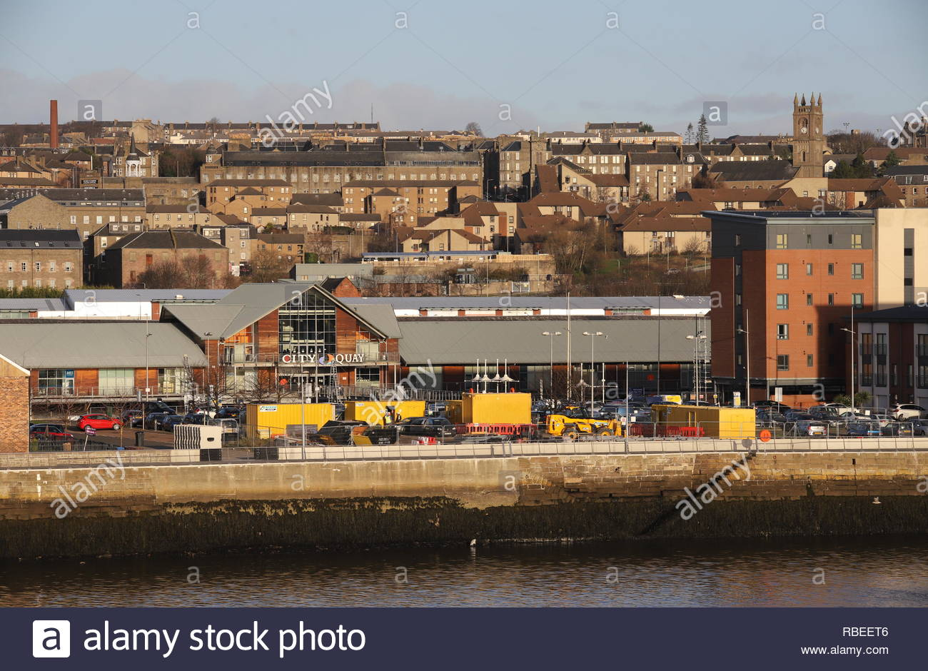 South Victoria Dock Road Car Park planned to be redeveloped into apartments Dundee Scotland  January 2019 - Stock Image