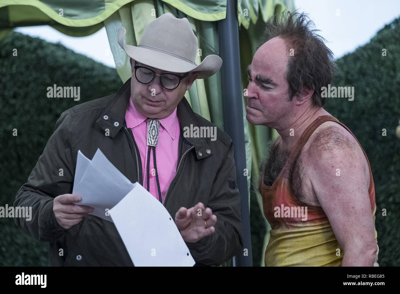 Barry Sonnenfeld, Roger Bart, 'A Series Of Unfortunate Events' Season 3 (2018) Credit: Netflix / The Hollywood Archive - Stock Image