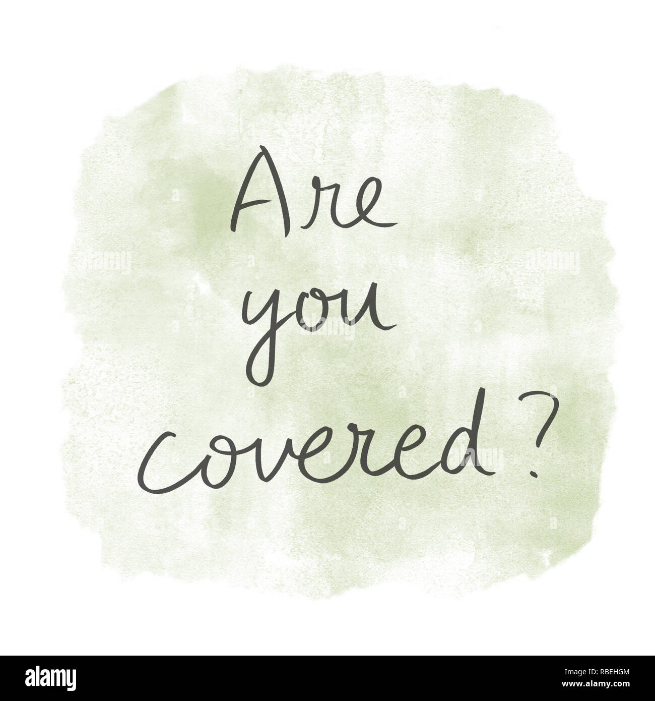 are you covered - Stock Image