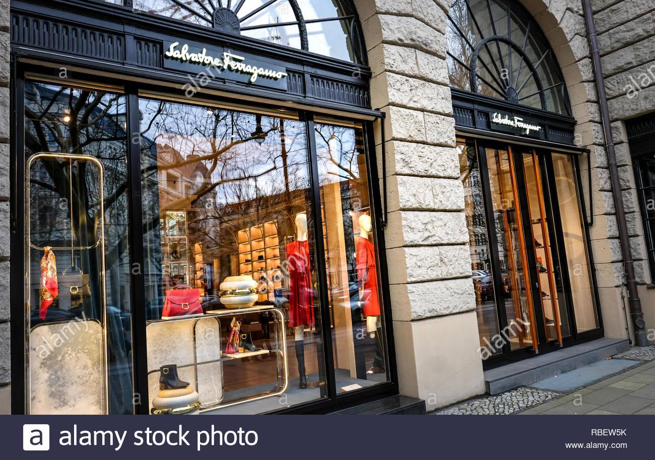 Salvatore Ferragamo store - Stock Image
