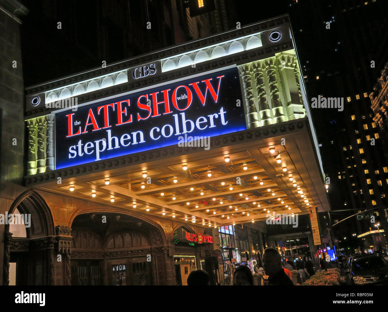 Late Show Stephen Colbert, 1697 Broadway, Ed Sullivan Theater, New York City, NY 10019-5904, USA - Stock Image