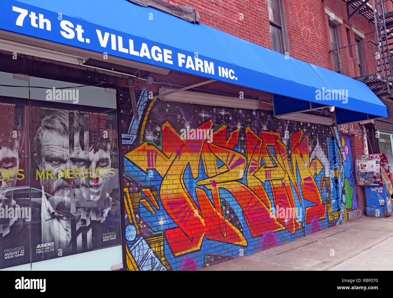 7th St Village Farm inc store, 86, East 7th Street, East Village, Manhattan, New York, NY, USA - Stock Image