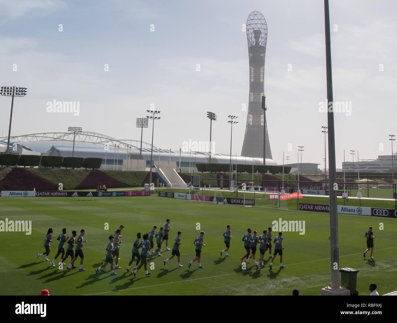Doha, Qatar  10th Jan, 2019  Soccer: Bundesliga, The players