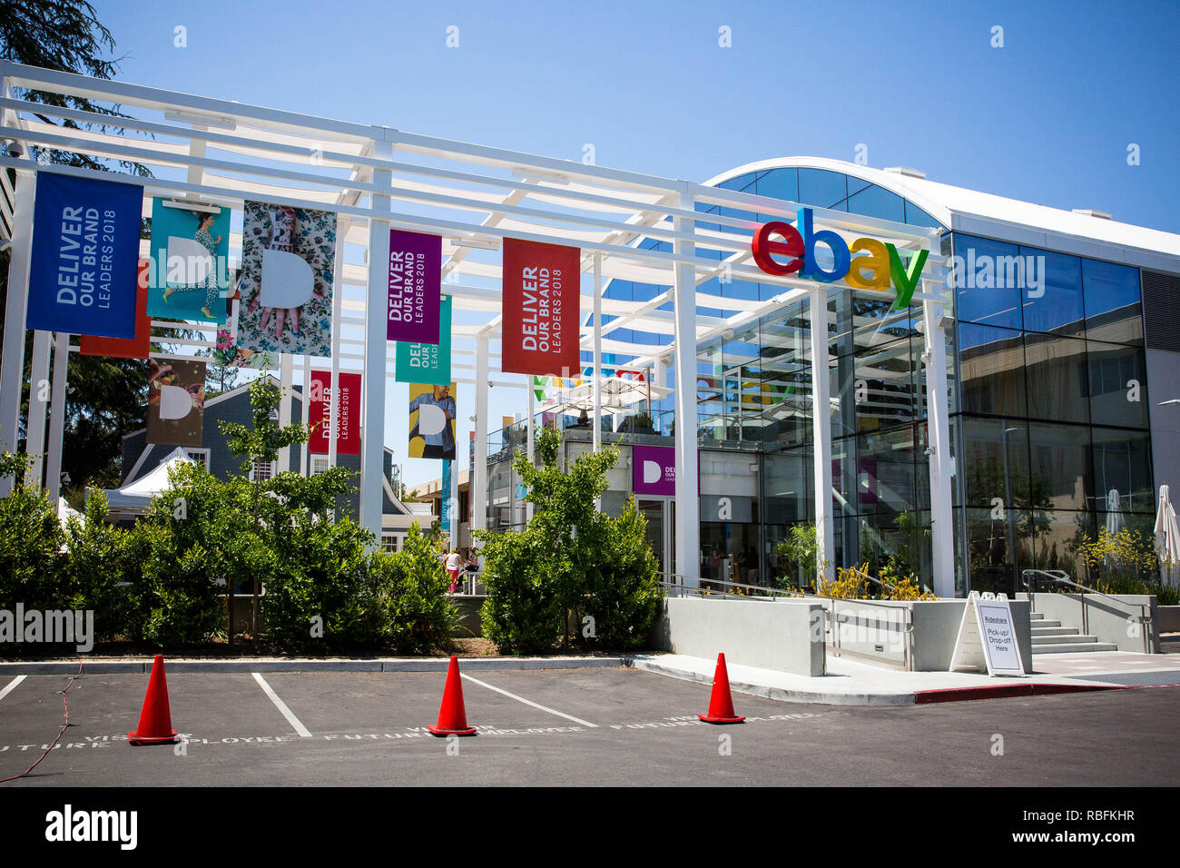 San Jose California Usa May 21 2018 Ebay S Headquarters Campus Welcome Center Named Main Street Ebay Inc Is A Global E Commerce Leader Stock Photo Alamy