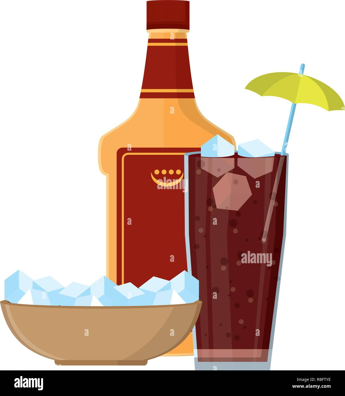 alcoholic drink cartoon Stock Vector