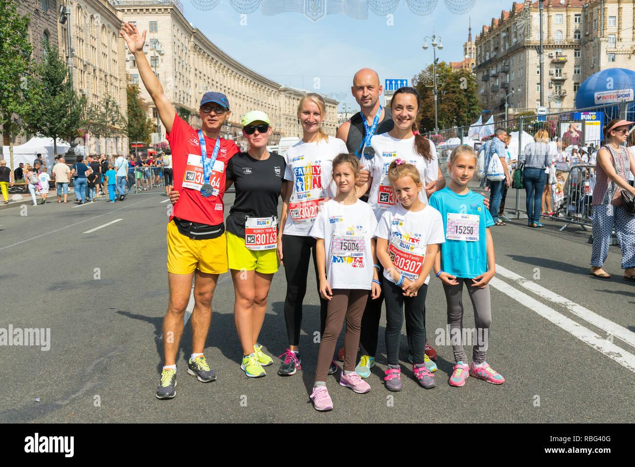 Ukraine Kiev Ukraine 09 09 2018 Athletes And Amateurs Are