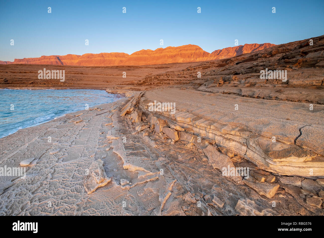 Marl stone formations. Eroded cliffs made of marl. Marl is a calcium carbonate-rich, mudstone formed from sedimentary deposits. Photographed in Israel - Stock Image