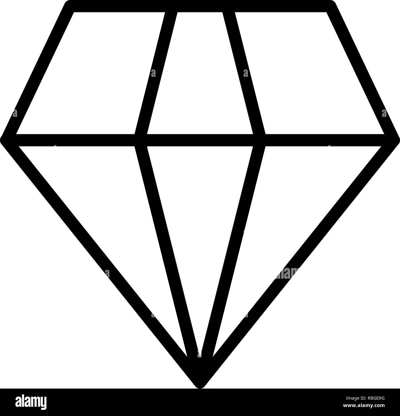 Vector Diamond Icon - Stock Image