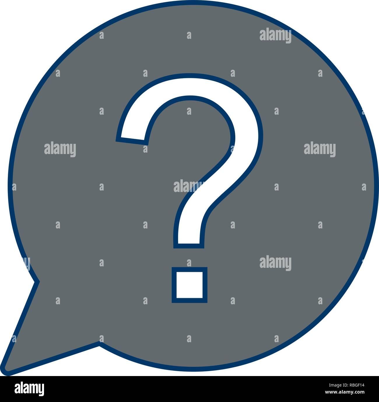 Vector Question Icon - Stock Vector