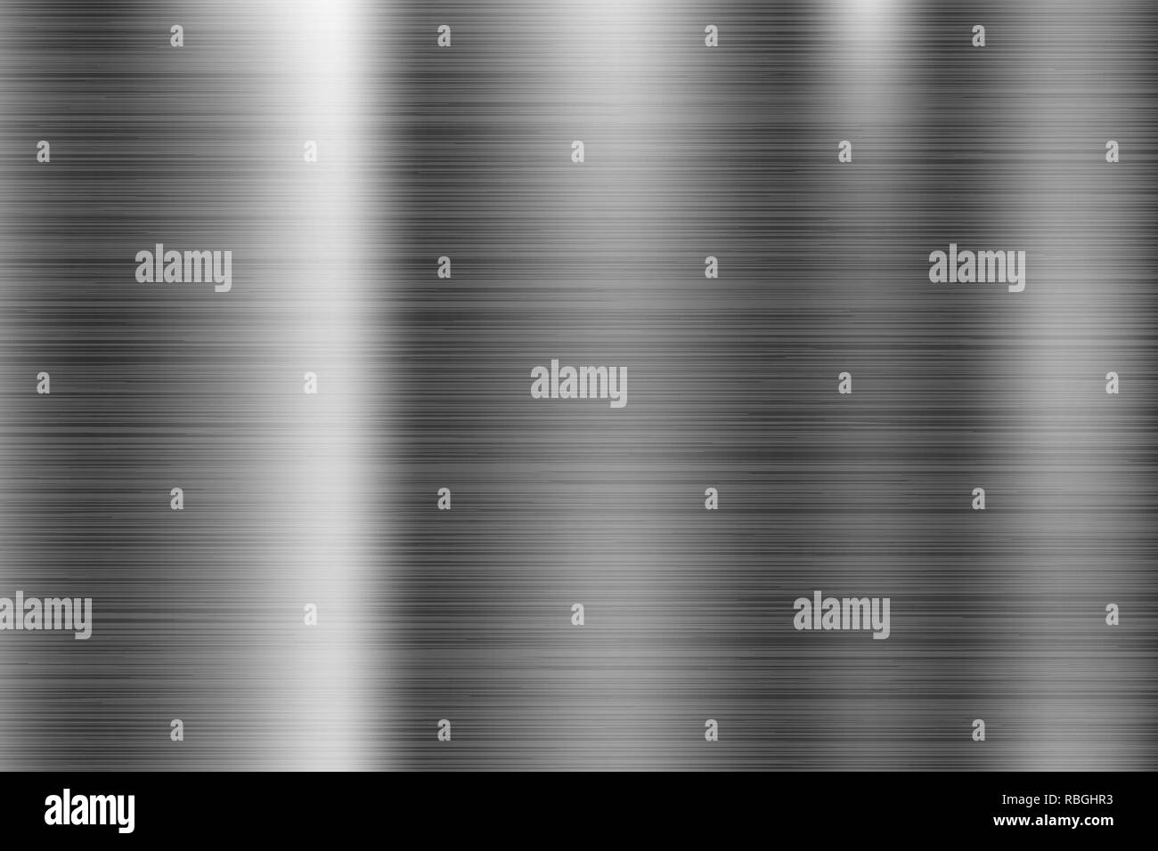Metal texture. Scratched shiny 3d surface - Stock Image