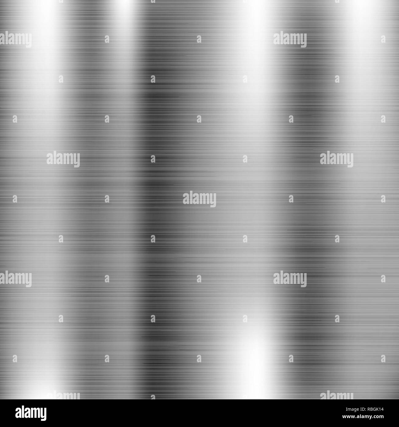 Brushed metal texture. Scratched shiny 3d surface - Stock Image