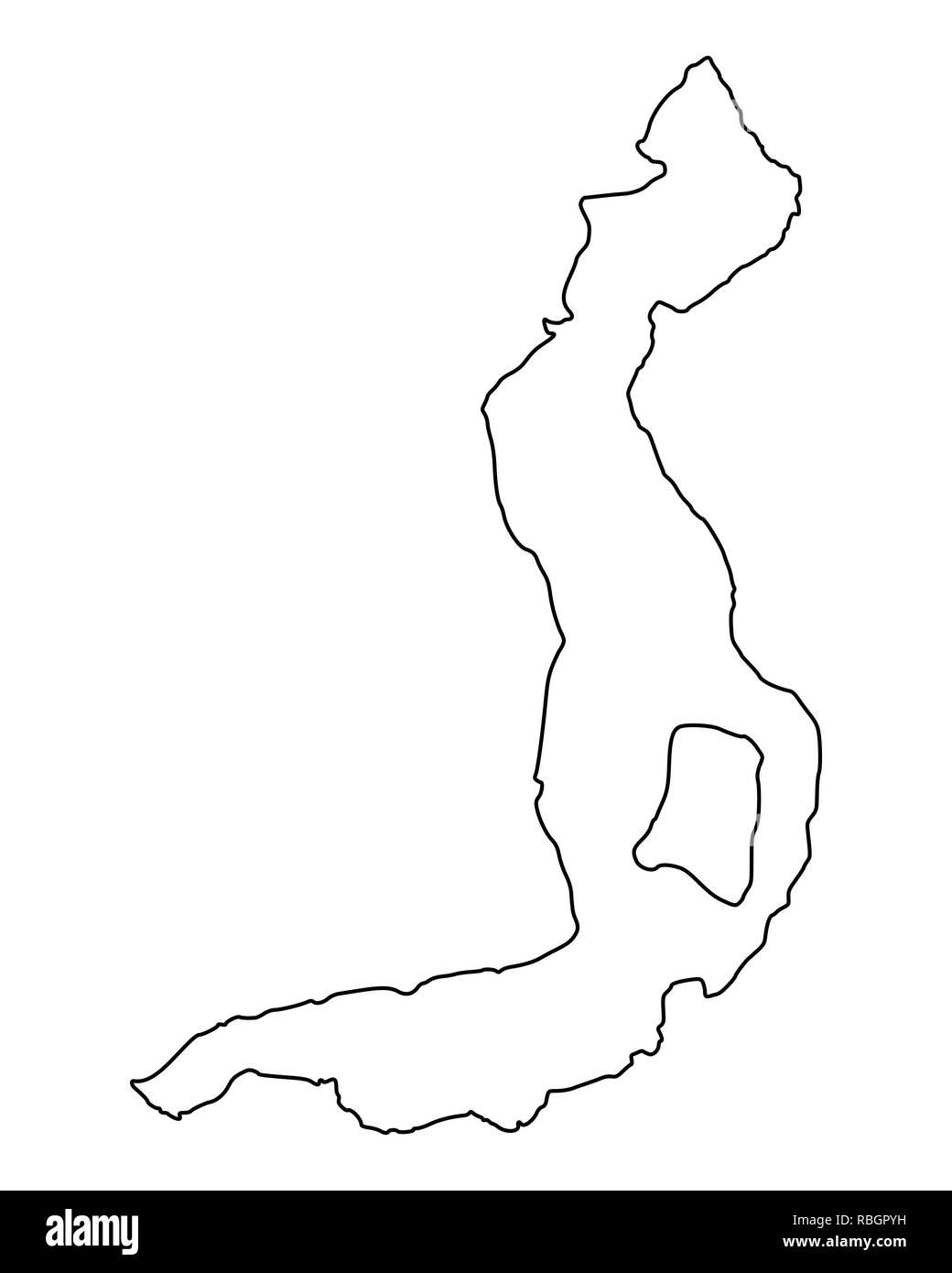 Map of Lake Iseo - Stock Image