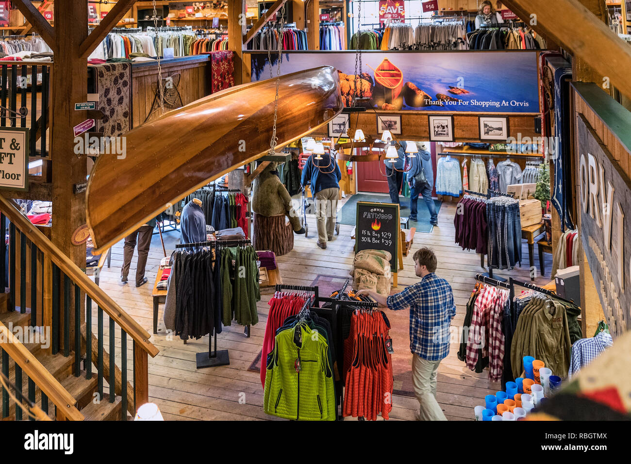 The Orvis flagship store, Manchester, Vermont, USA. - Stock Image