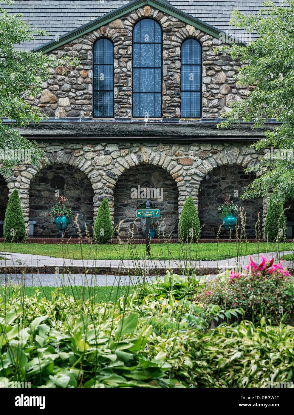 St Josephs Cistercian Abbey church, Spencer, Massachusetts, USA. - Stock Image