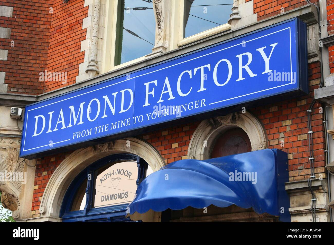AMSTERDAM, NETHERLANDS - JULY 8, 2017: Diamond factory shop Koh-i-noor in Amsterdam, Netherlands. Amsterdam has a long history of diamond trade and in - Stock Image