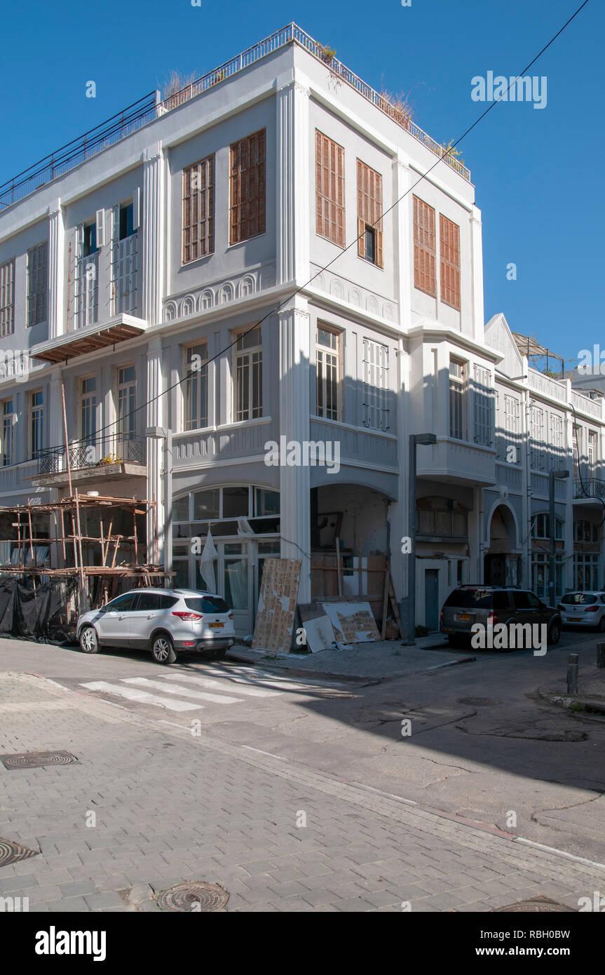 Urban Renewal Project on Jerusalem Boulevard, Jaffa, Israel - Stock Image