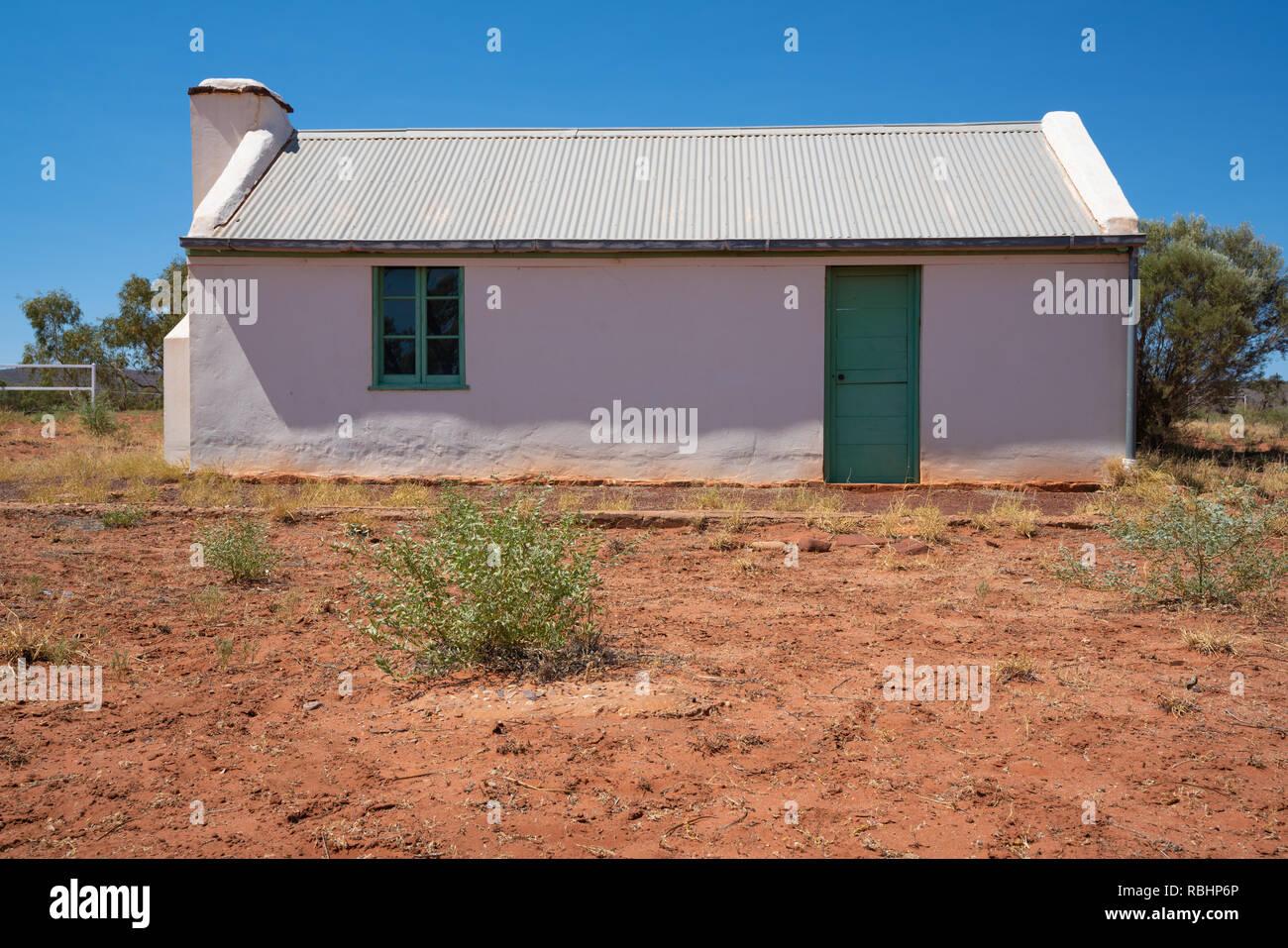 First house now abandoned of Australian indigenous artist Albert Namatjira in MacDonnell ranges Northern Territory Australia - Stock Image