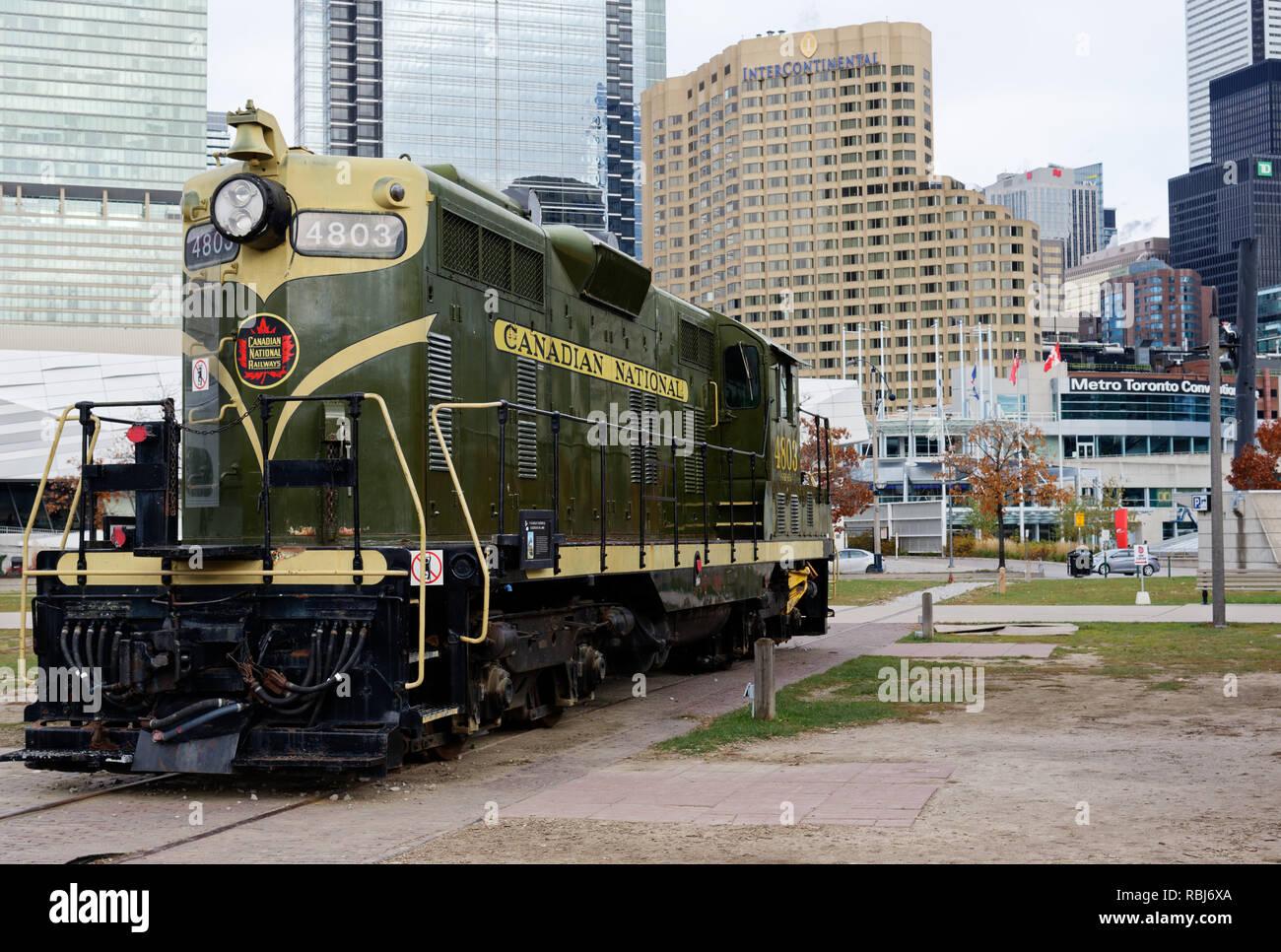 Canadian National GP7 High-Nose Locomotive at Toronto Railway Museum, number 4203 - Stock Image