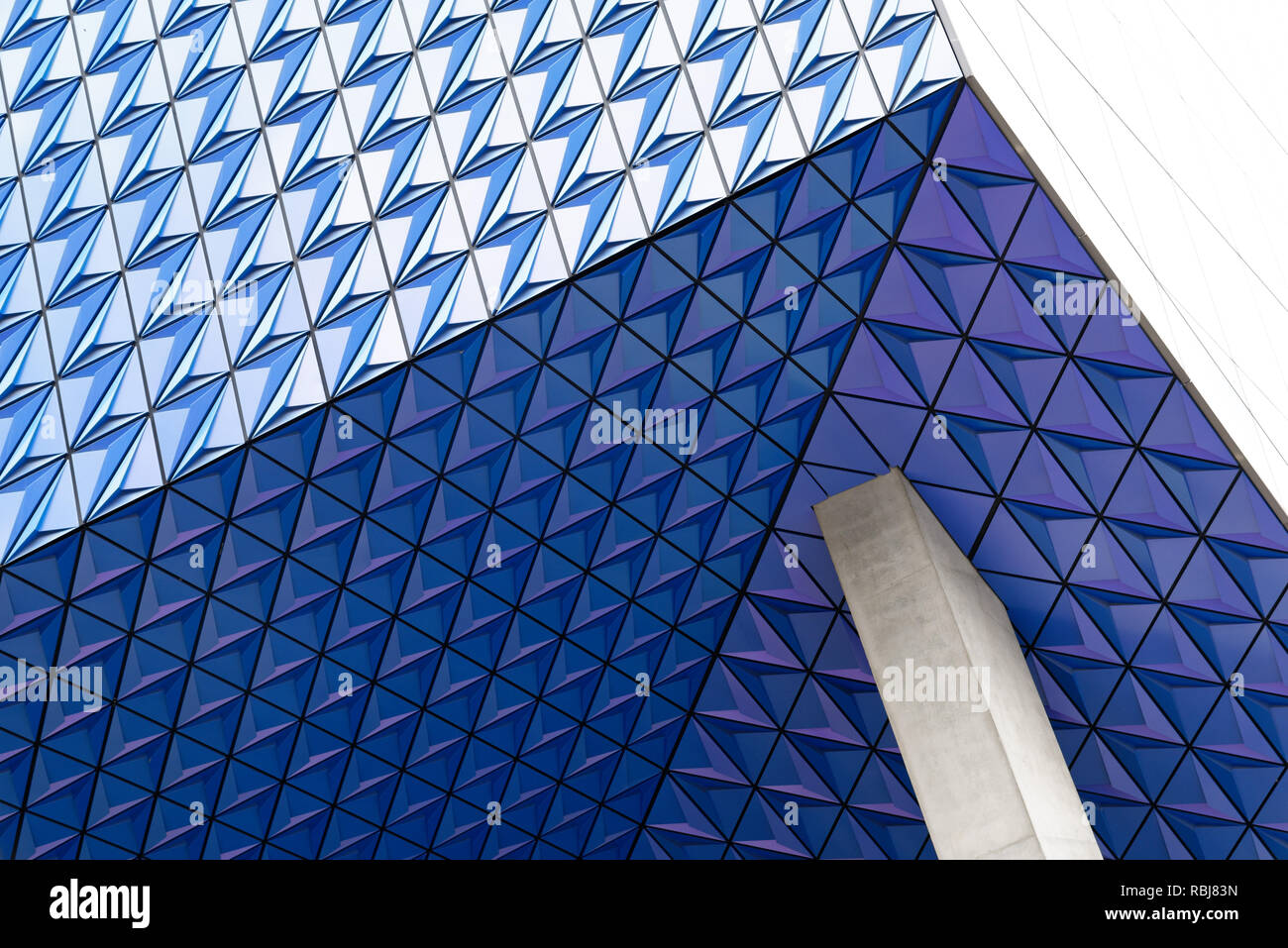 Architectural detail from the Ryerson University Student Learning Centre on Yonge Street in Toronto Canada - Stock Image